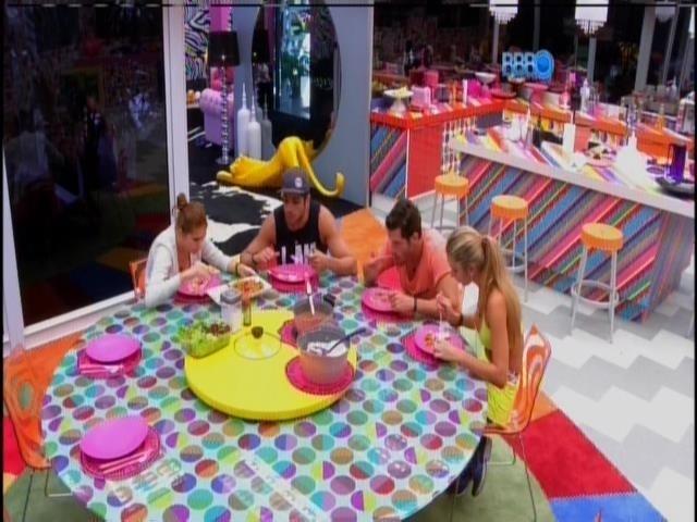 24.jan.2014 - Amanda conta para Tatiele, Roni e Junior sobre golpe financeiro que sua família sofreu