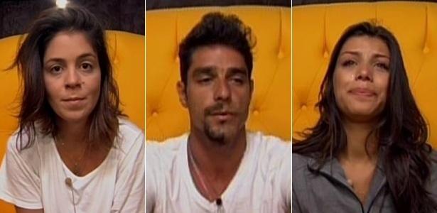 """Bella, Diego e Franciele estão no quinto paredão do """"BBB14"""""""