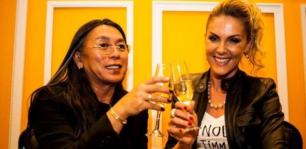 Celso Kamura e Ana Hickmann: a apresentadora é cliente fiel do cabeleireiro desde o início de sua carreira - Christian Parente/Divulgação