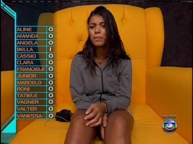 24.jan.2014 - Franciele manteve seu voto anterior em Vanessa