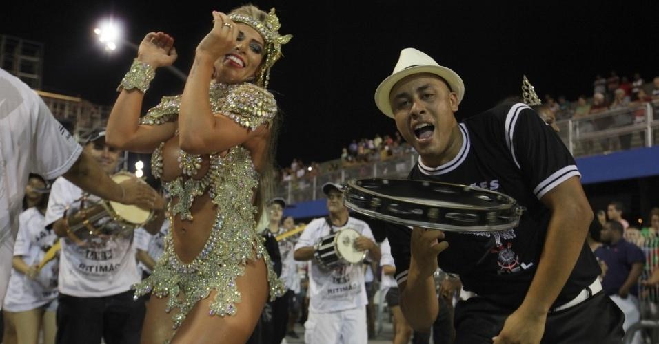 26.jan.14 - A Gaviões da Fiel será a segunda escola a entrar na avenida no sábado de Carnaval
