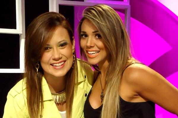 26.jan.2014 - Morango e Fabiana no Segunda Tela