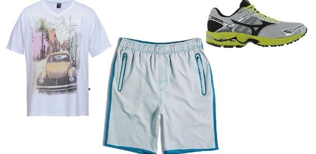 Para quem gosta de fazer caminhadas, uma bermuda e uma camiseta resolvem a questão. Neste caso, um tênis pode ser um bom investimento - Divulgação