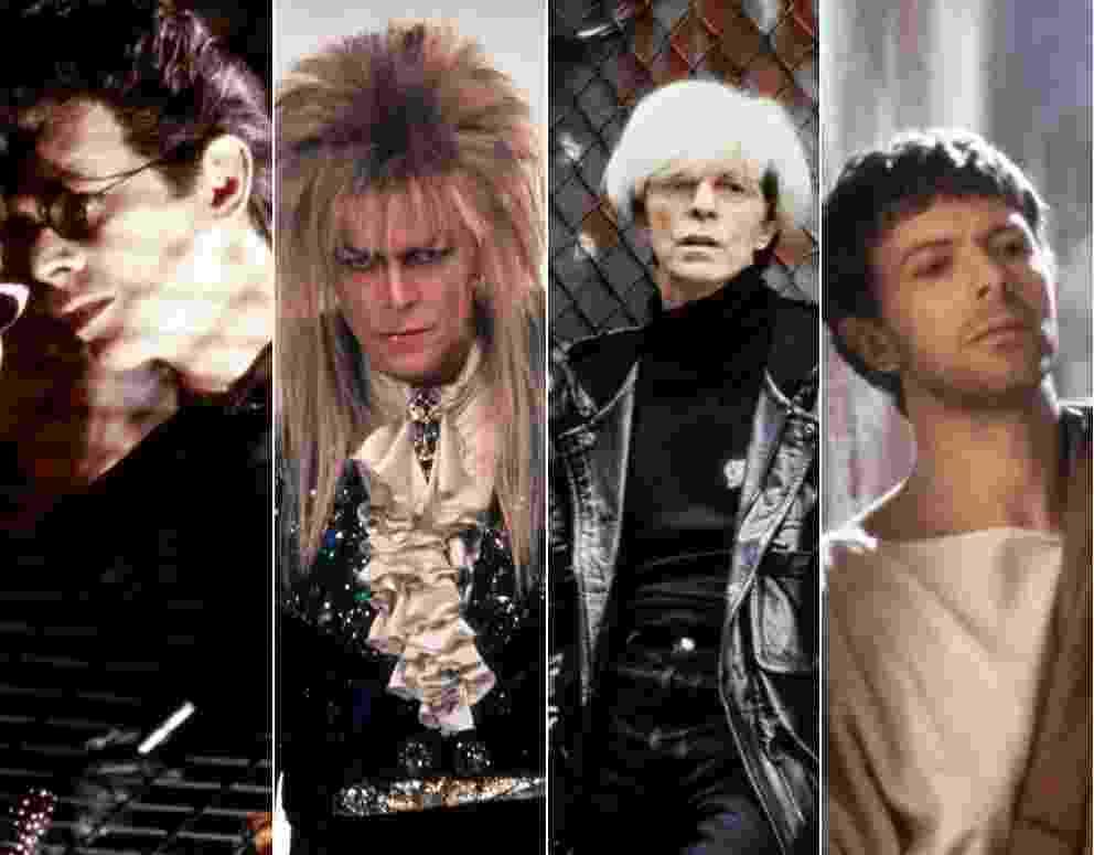 Vampiro, rei dos duendes, Andy Wahrol e Pôncio Pilates: Assim como na música, David Bowie usou seu poder de camaleão no cinema e fez papeis delirantes, inesquecíveis ou que ninguém viu. Sua carreira como ator começou antes mesmo de fazer sucesso na música e suas atuações elogiadas vem de seus estudos em teatro de vanguarda e mímica. Confira as mil faces de Bowie no cinema: - Divulgação