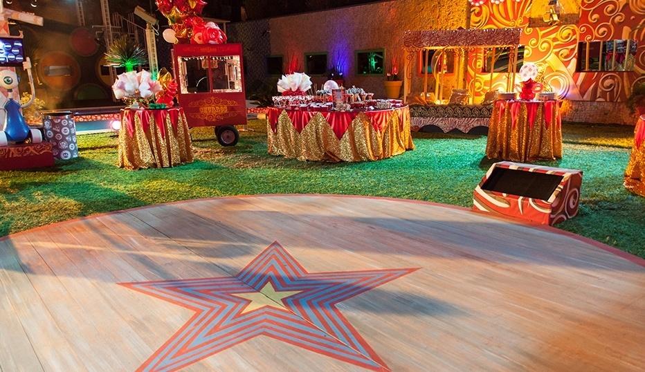 29.jan.2014 - Decoração da Festa Circo