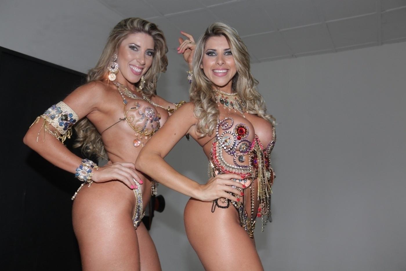 30.jan.2014 - As irmãs Tati e Ana Paula Minerato fizeram ensaio para a revista