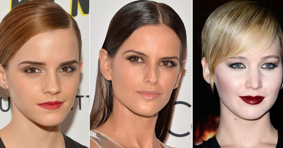 Emma Watson, Izabel Goulart e Jennifer Lawrence