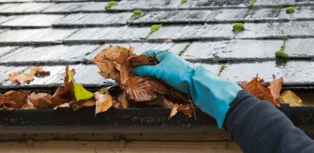 A limpeza regular das calhas e dos tubos condutores permite o escoamento eficaz da água das chuvas  - Getty Images