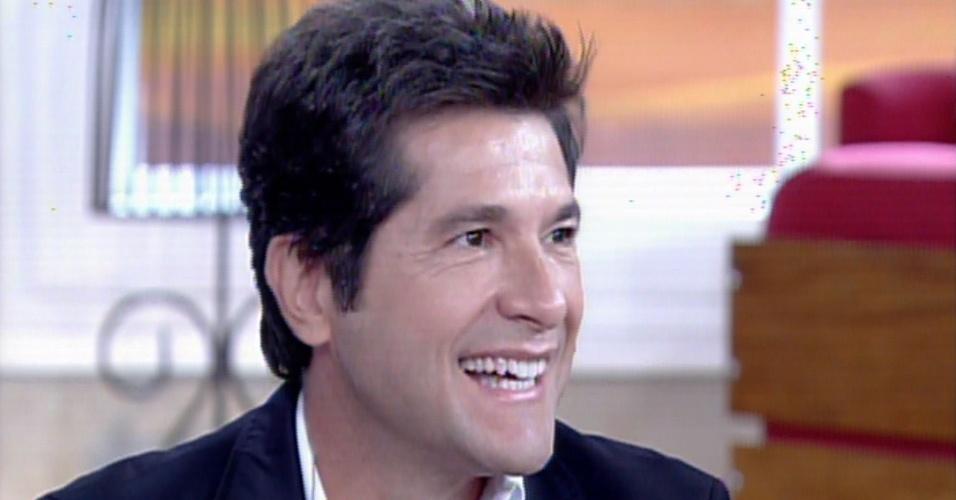 """31.jan.2014 - O cantor Daniel fala sobre """"Amor à Vida"""" no """"Encontro Com Fátima Bernardes"""""""