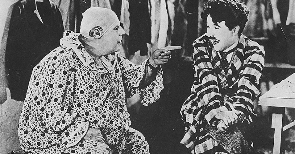 """O ator Charlie Chaplin em """"O Circo"""", de 1928"""