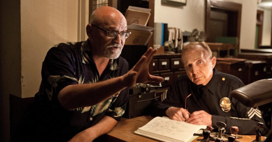 """O diretor e produtor Frank Darabont afirmou que """"Mob City' tem influências das séries """"Breaking Bad"""","""" The Shield"""", """"The Wire"""" e """"Dexter"""". Entretanto, seu programa favorito continua sendo """"Battlestar Galactica"""""""