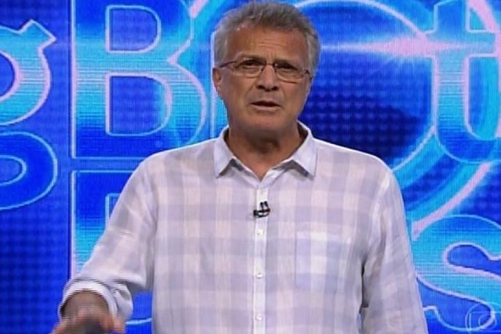 31.jan.2014 - Pedro Bial inicia a apresentação da edição do Big Brother Brasil