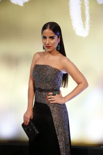 """2.fev.2014 - Camila Camargo na festa da novela """"Em Família"""""""