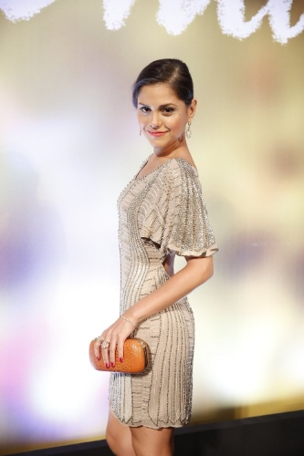 """2.fev.2014 - Jéssika Alves na festa da novela """"Em Família"""""""