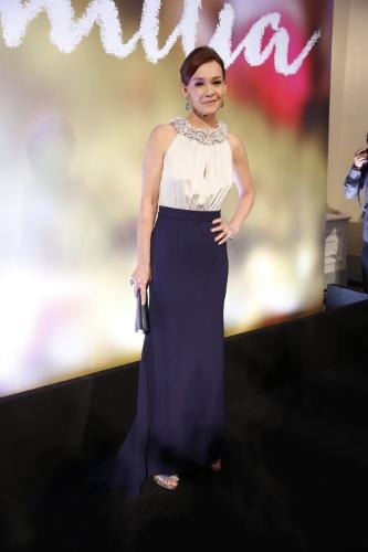 2.fev.2014 - Julia Lemmertz na festa da novela