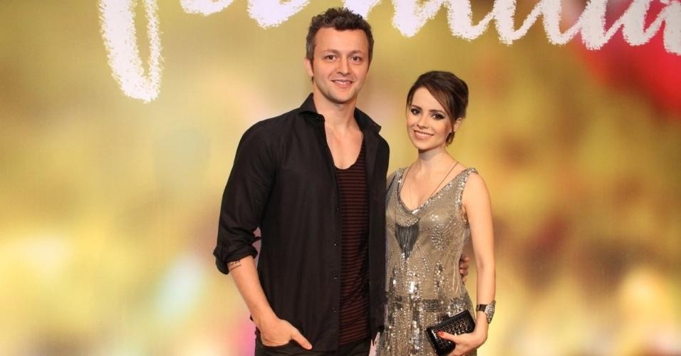 2.fev.2014 - Lucas Lima e Sandy na festa da novela
