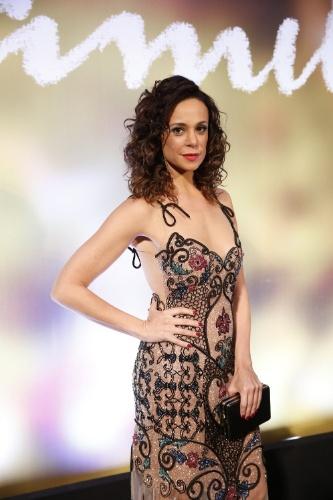 "2.fev.2014 - Vanessa Gerbelli na festa da novela ""Em Família"""