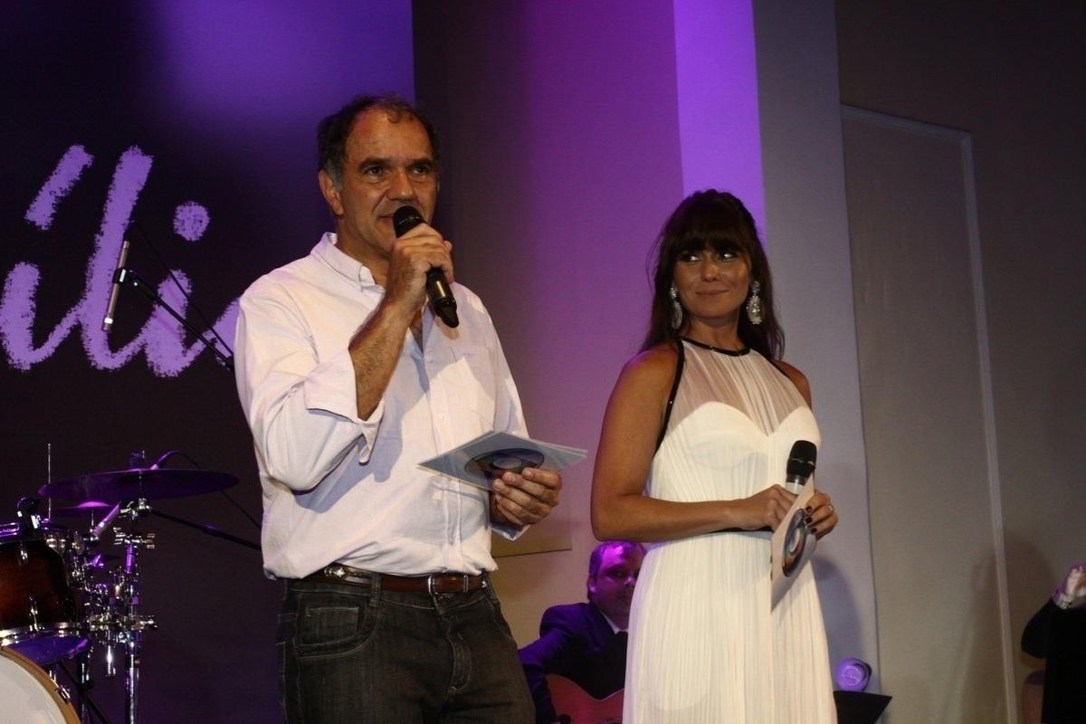 2.fev.2014 - Humberto Martins e Giovanna Antonelli na festa da novela
