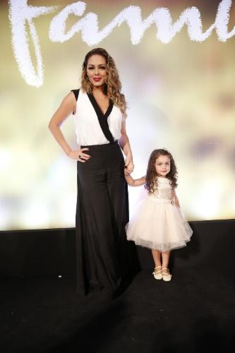 """2.fev.2014 - Tânia Mara e a filha, Maysa, na festa da novela """"Em Família"""""""
