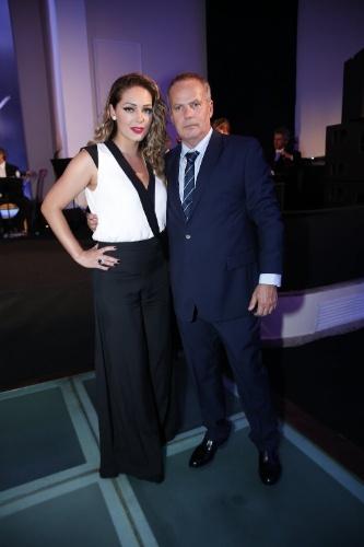 """2.fev.2014 -  Tânia Mara e Jaime Monjardim na festa da novela """"Em Família"""""""