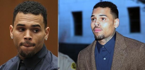 O cantor de R&B Chris Brown comparece à audiência em tribunal em Los Angeles, no dia 3 de fevereiro