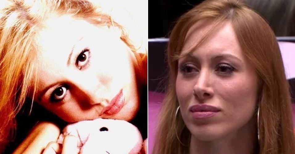A gaúcha Aline mudou bastante desde quando era adolescente