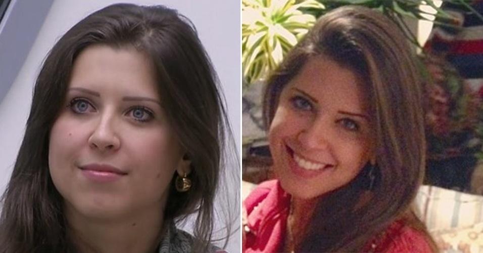 """Andressa Ganacin emagreceu bastante depois do """"BBB13"""". Além disso, o cabelo da ex-sister também ficou mais liso"""