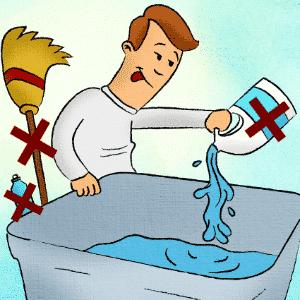 Cuidados na hora de limpar a caixa d?água - Erick Souza/ Arte UOL
