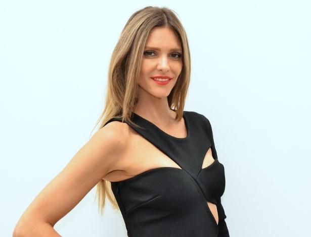 4 fev. 2014 - A apresentadora Fernanda Lima após coletiva para lançamento de campanha da Arezzo, em São Paulo - AgNews