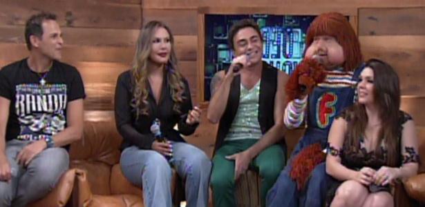 """Sylvinho Blau-Blau, Rosanah, Marquinhos Moura, Fofão e Simony sentam juntos em """"Vídeo Show"""" especial dos anos 1980"""