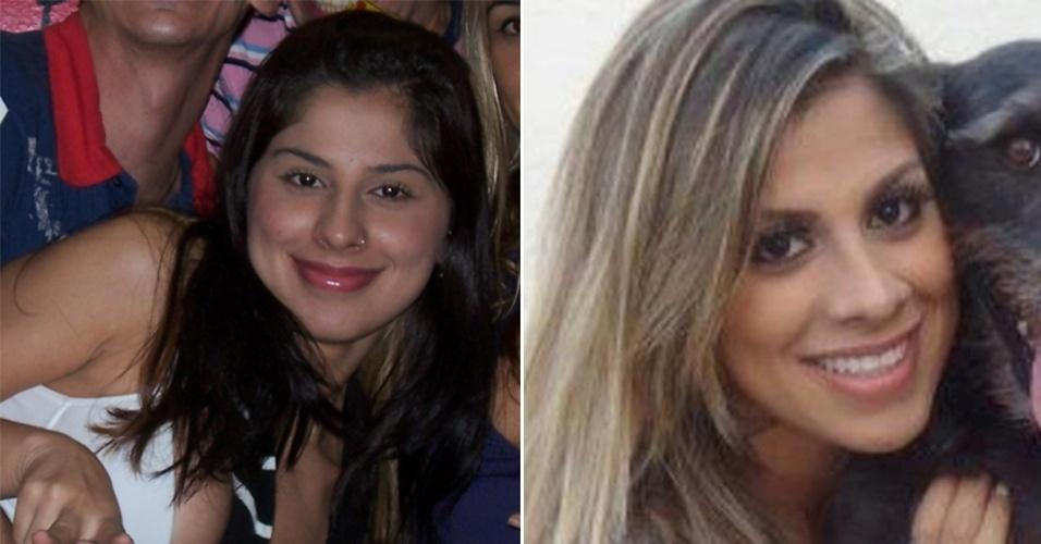 Antes de ser modelo fitness, Vanessa Mesquita tinha o rosto mais arredondado e os cabelos mais curtos e escuros