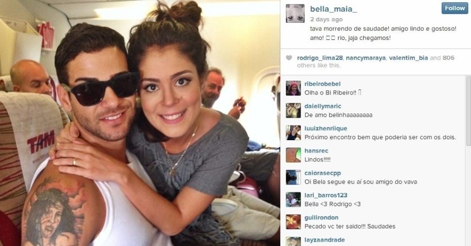 Bella viajou de avião junto com Rodrigo
