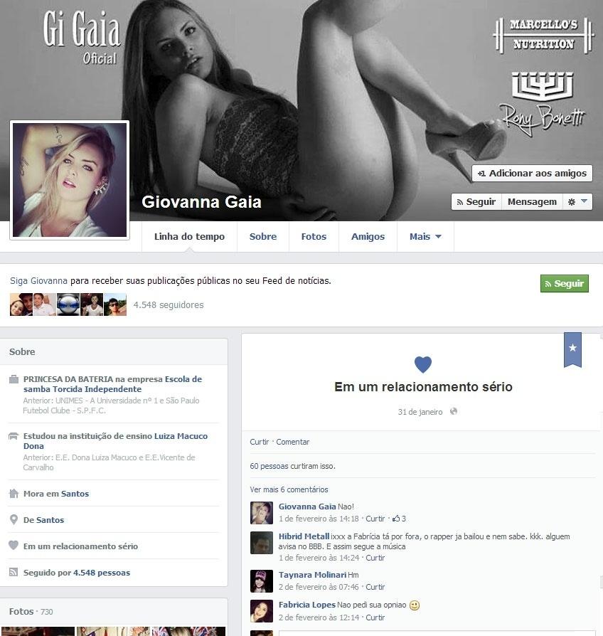 Giovanna Gaia, affair de Valter Slim, do
