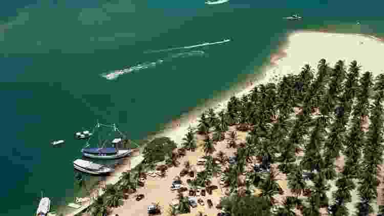 Praia do Gunga, na Barra de São Miguel, a 33 km ao sul de Maceió - Luiz Eduardo Vaz/Divulgação - Luiz Eduardo Vaz/Divulgação