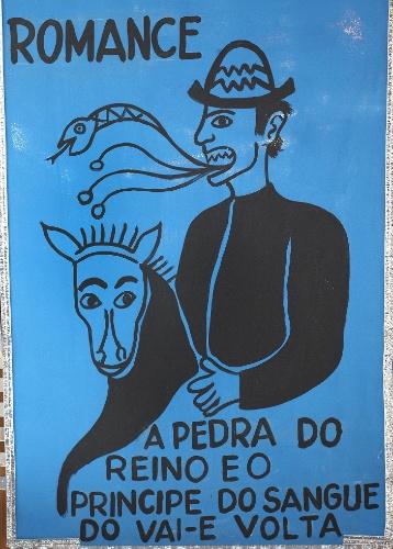 31.jan.2014 - Detalhe do carro alego?rico A Cavalhada, inspirado na obra de Ariano Suassuna, homenageado do bloco recifense Galo da Madrugada no Carnaval 2014