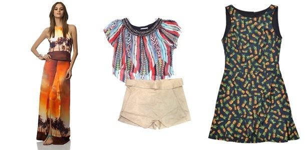 Formas amplas e estampas fortes estão entre as características marcantes da moda carioca, que faz sucesso em todo o país - Divulgação