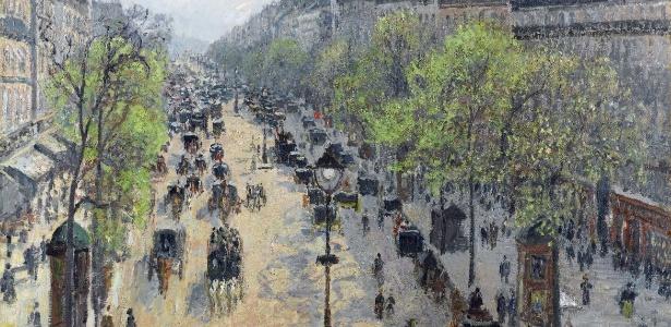 """Quadro """"Le Boulevard Montmartre, matinée de printemps"""" do pintor impressionista Camille Pissarro (1830-1903) - EFE"""