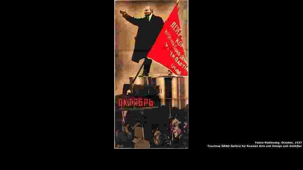 Uma exposição em Londres explora a era dourada dos cartazes de cinema na União Soviética. A mostra está na GRAD: Galeria para Artes e Design da Rússia. (Acima: Irmãos Stenberg, 'Encouraçado Potemkim', 1925/GRAD: Gallery for Russian Arts and Design) - GRAD (Gallery for Russian Arts and Desig)/Divulgação