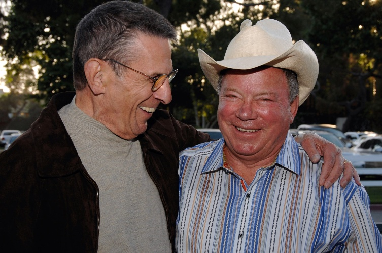 25.abr.2009 - Leonard Nimoy e William Shatner na 19º Annual 'Hollywood Charity Horse Show' em Burbank, na Califórnia