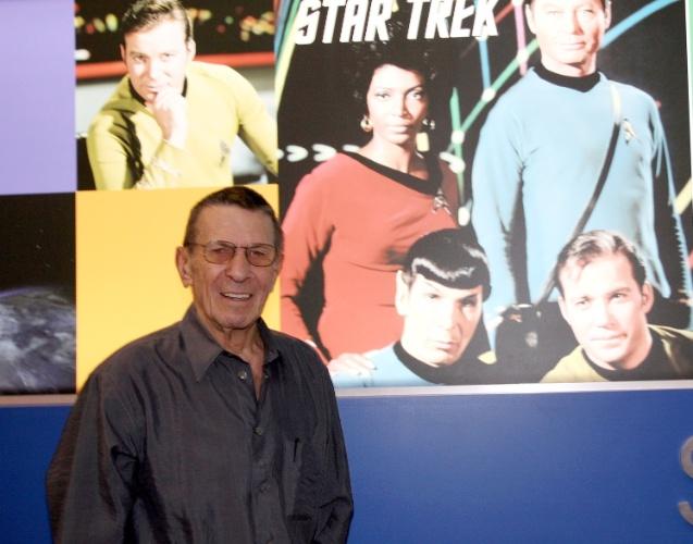 10.jun.2010 - Leonard Nimoy em uma exposição em Nova York