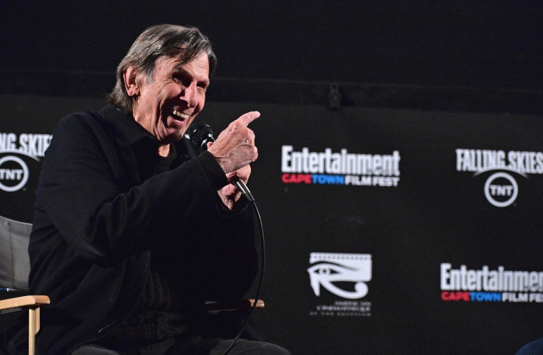 6.mai.2013 - Leonard Nimoy no Festival de Cinema de Cape Town em Hollywood, na Califórnia