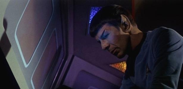 """O ator Leonard Nimoy como o Sr. Spock na série de TV """"Star Trek"""" - Divulgação"""