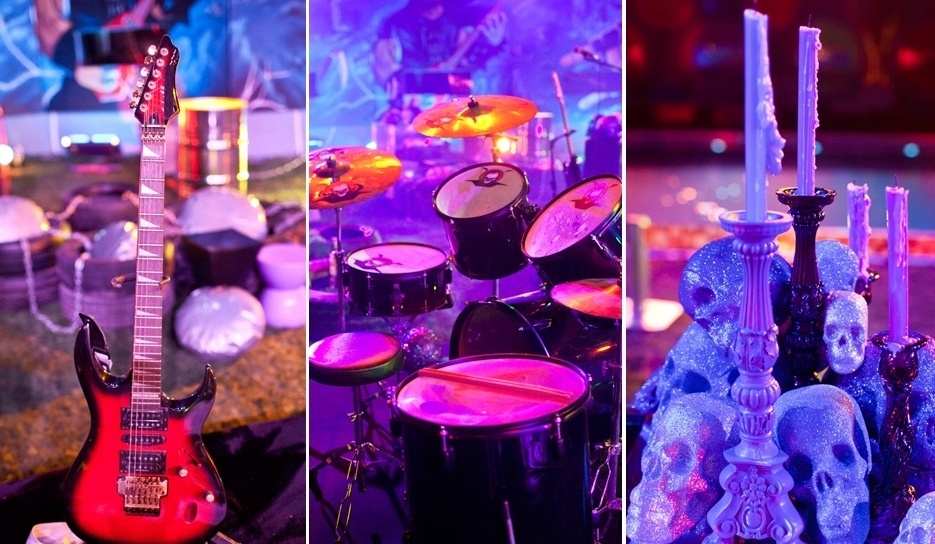 08.fev.2014 - Decoração da festa Metal