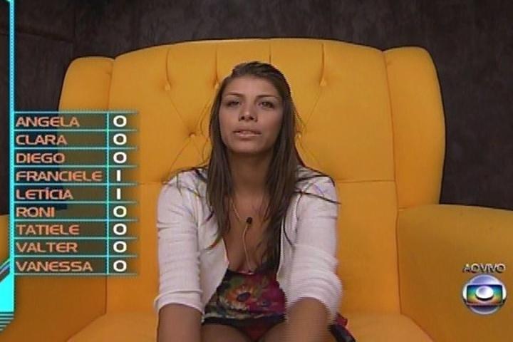 09.fev.2014 - Franciele votou em Vanessa: