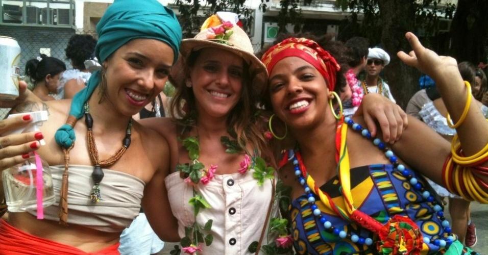 Maíra Freitas já desfilou fantasiada de baiana