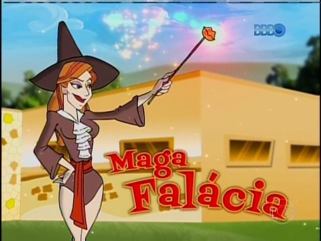 11.fev.2014 - Aline virou Maga Falácia na brincadeira do programa