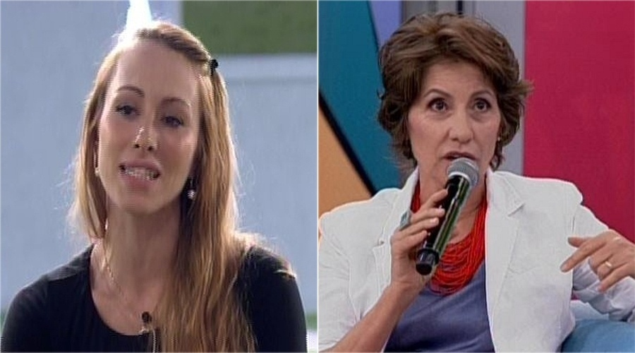 """O comentário que Aline fez sobre a atriz Cássia Kis Magro, com quem contracenou em """"Cobras & Lagartos"""", foi cortado pelo pay-per-view"""