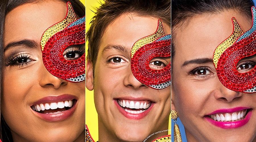 Anitta, Fábio Porchat e Narcisa Tamborindeguy na campanha do Hemorio