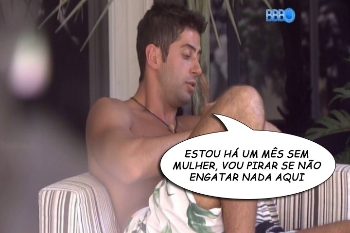 """""""ESTOU HÁ UM MÊS SEM MULHER, VOU PIRAR SE NÃO ENGATAR NADA AQUI"""", Marcelo, sobre sua vontade de ter um relacionamento dentro da casa"""