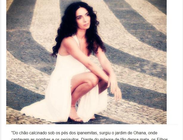 Versículo sobre a depilação de Claudia Ohana